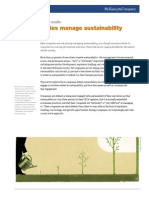 How Companies Manage Sustainability McKinsey Global Survey Results