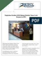 Kliping Koran MoU BPS Dengan Timor Leste
