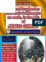 Prophecies of Jesus Christ's Life on Earth. (In 44 Slides)