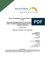EMP~4 DRAFT ENVIRONMENTAL MANAGEMENT PLAN (EMP)