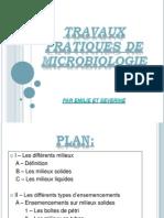 Milieux Culture Microbiologie
