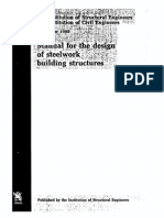 Manual for the Design of Steelwork Building Structures