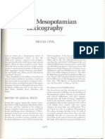 Miguel Civil - Ancient Mesopotamian Lexicography