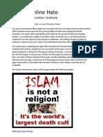 2014 Anti-Muslim Hate Still Online