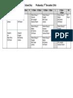 HSD 2 Timetable