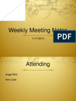 Meeting Notes 8