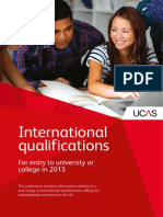 2015 International Qualifications UCA Recognition