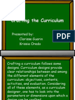 design the curriculum