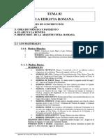 Tema 02. Edilicia Romana