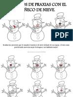Ejercicios de Praxias Con El Muñeco de Nieve