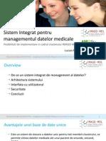 Sistem Integrat Pentru Managementul Datelor Medicale