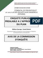 Plan départemental déchets - Avis