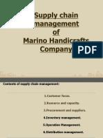 Supply Chain Final of marino handicrafts