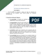 Tema 8 El Derecho Objetivo y El Derecho Subjetivo