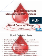 UTM Shillong Blood Donation Camp 2014