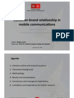 Customer-brand relationship in mobile communications - MA thesis