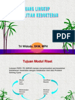 Ruang Lingkup Penelitian FK UPR 2014 (Matrikulasi)