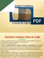 Seminario Materiais Cerâmicos à Base de Argila