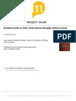 El Golpe Estético Cultural Dictadura Militar en Chile Latina American Research Review Vol44num2.Errazuriz