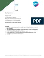 Cito Mock Exam Ipma Level d Open Questions