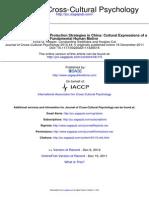 Journal of Cross Cultural Psychology 2013 Hepper 5 23