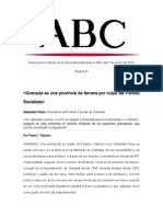 Entrevista a Sebastián Pérez publicada en ABC el 8 de enero de 2010