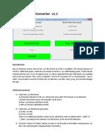 MANUAL en JoJos Sysex IR-Converter v1.1