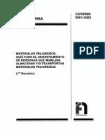NormaCOVENIN3061-2002.Guiaadiestramientopersonasmanejadorasmaterialespeligrosos.PDF