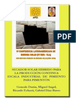 Secador Solar Pimiento Peru