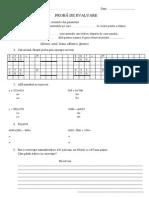 Evaluare U.I. Adunarea Si Scaderea Cu Trecere Peste Ordin 0-1000