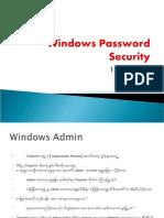 Windows Password Security