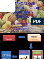 Sustancias Que Influyen en El Sabor, Colo, Olor y Textura