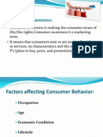 Brand awareness of consumers towards sprite.