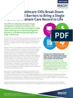 5 Ways Healthcare CIOs Break Down Departmental Barriers to Bring a Single View of the Patient Care Record to Life