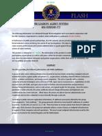 FBI Liaison Alert System (Flash) Message M-000045-Tt Tlp Green