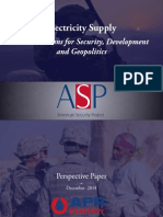 Electricity Supoply - Security Development Geopolitics