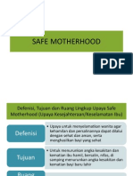 Safe Motherhood