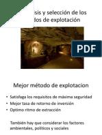 1.2 Análisis y Selección de Los Métodos de Explotación