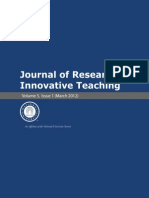 Journal of Research in Innovative Teaching Volume 5