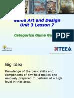 unit 3 7 categorize game genres