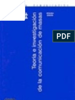 Teoría e Investigación de La Comunicación de Masas - José Carlos Lozano Rendón