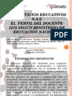 Perfil Del Docente 1278 Del Men. Elaborado Por Oea Servicios Educativos s
