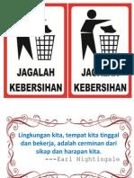 jangan buang sampah - do not litter