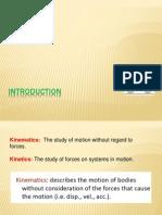 Kinematics of Machinery Introduction