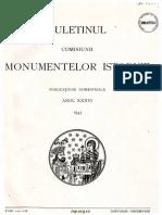 Buletinul Comisiunii Monumentelor Istorice 1943 1944 Anul XXXVI XXXVII