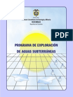 Programa Exploracion Aguas Subterraneas
