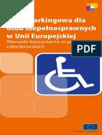 Karta parkingowa dla osób niepełnosprawnych w Unii Europejskiej