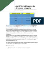 Pagos a Cuenta 2014 Modificación de Suspensión de Tercera Categoría