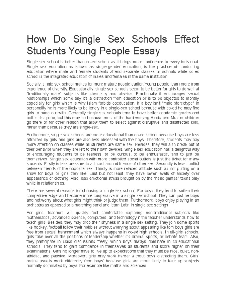 sex education high school essay This free sociology essay on essay: mandating sex education in public schools is perfect for sociology students to use as an example.
