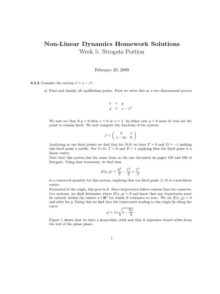 nonlinear dynamics-and-chaos-strogatz   Trigonometric Functions   Nonlinear  System